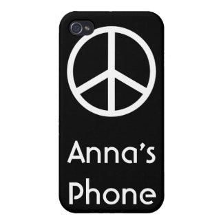 Signo de la paz iPhone 4/4S carcasa