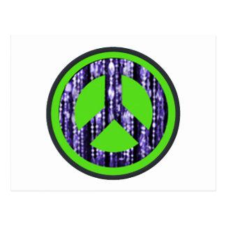 Signo de la paz, gotas, redondas postal