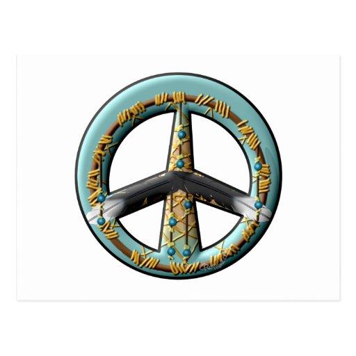 Signo de la paz ideal del colector tarjeta postal