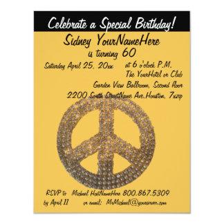 Signo de la paz invitación 10,8 x 13,9 cm