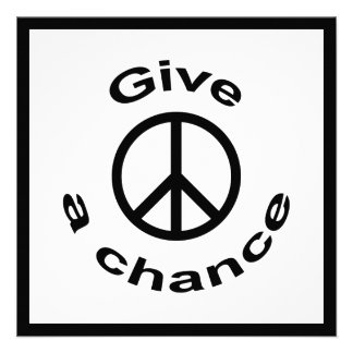 Signo de la paz invitaciones personalizada