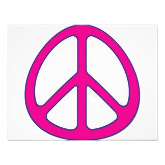 signo de la paz invitacion personalizada