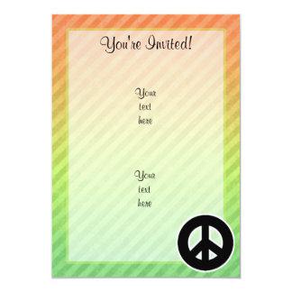 Signo de la paz invitación 12,7 x 17,8 cm