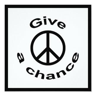 Signo de la paz invitación 13,3 cm x 13,3cm