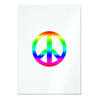 Signo de la paz invitación 8,9 x 12,7 cm