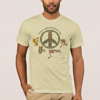Signo de la paz latino y céltico camiseta