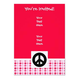 Signo de la paz lindo invitación 12,7 x 17,8 cm