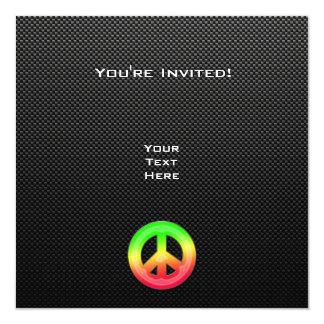 Signo de la paz liso invitación 13,3 cm x 13,3cm