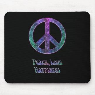 Signo de la paz Mousepad de la felicidad del amor