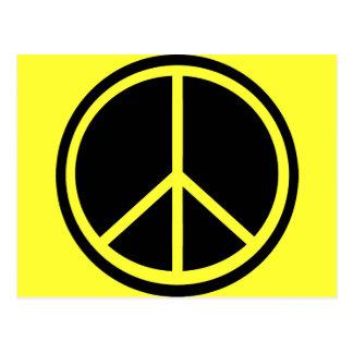 Signo de la paz negro clásico tarjetas postales