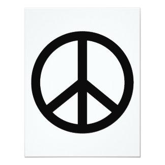 Signo de la paz negro anuncio personalizado