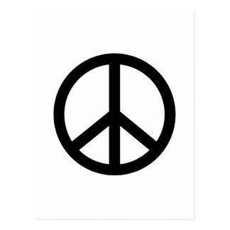 Signo de la paz negro postales