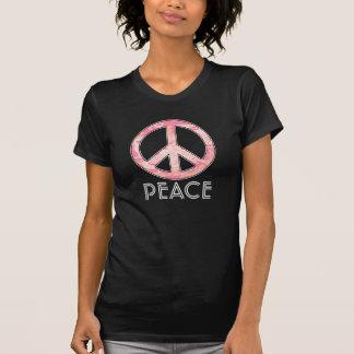 Signo de la paz para los chicas del flower power, camiseta