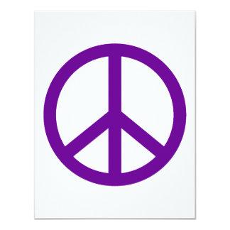 Signo de la paz púrpura comunicados personalizados
