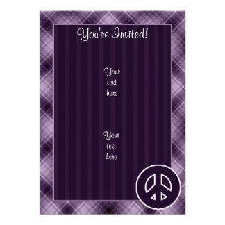 Signo de la paz púrpura anuncio personalizado