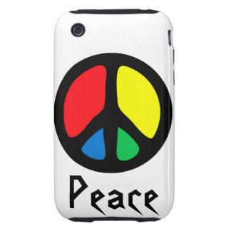 Signo de la paz retro iPhone 3 tough cárcasa
