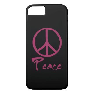 Signo de la paz retro funda iPhone 7