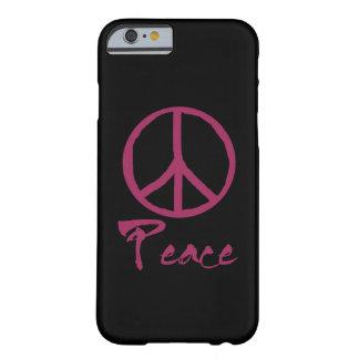 Signo de la paz retro funda para iPhone 6 barely there