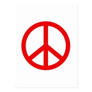 Signo de la paz rojo postales