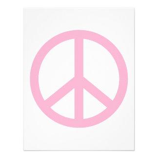 Signo de la paz rosa claro comunicados personales