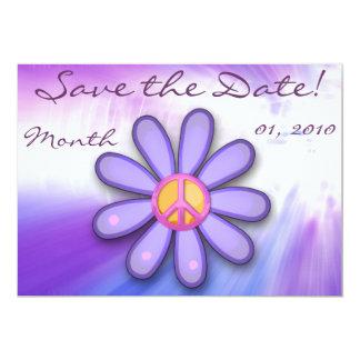 Signo de la paz rosado bonito Announcemets Invitación 12,7 X 17,8 Cm
