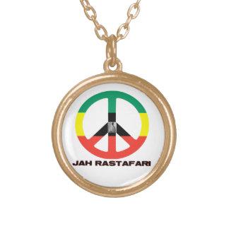 Signo de la paz Selassie I de Jah Rastafari Colgante Redondo