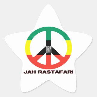 Signo de la paz Selassie I de Jah Rastafari Calcomanías Forma De Estrellas Personalizadas