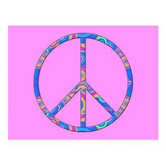 Signo de la paz - símbolo de paz postales