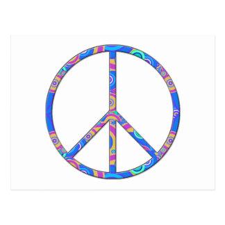 Signo de la paz - símbolo de paz tarjeta postal