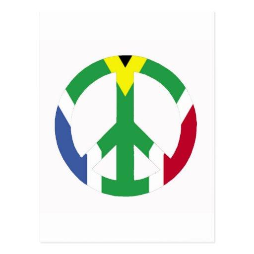 Signo de la paz surafricano tarjetas postales