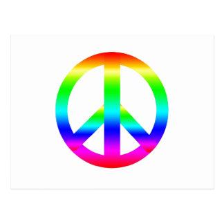Signo de la paz tarjeta postal