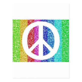 Signo de la paz tarjetas postales