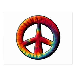 Signo de la paz teñido lazo postal
