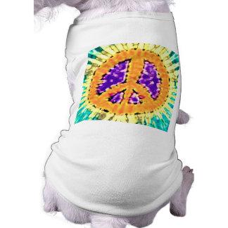 Signo de la paz Trippy brillante del teñido anudad