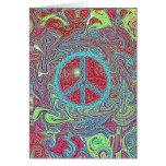 Signo de la paz Trippy maravilloso psicodélico Felicitacion