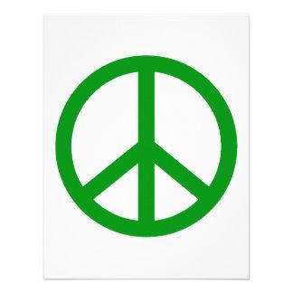 Signo de la paz verde comunicado personal