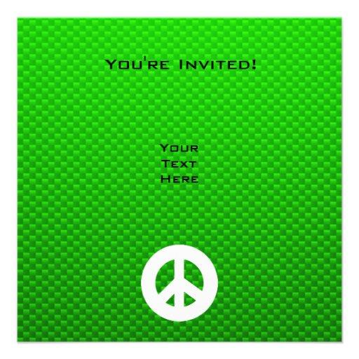 Signo de la paz verde comunicado personalizado