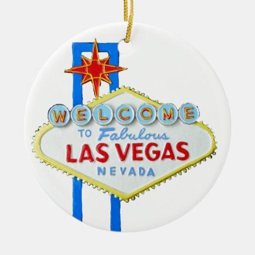 Signo positivo de Las Vegas Ornamento De Navidad
