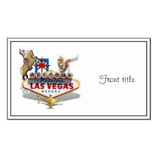 Signo positivo de Las Vegas Tarjetas De Visita