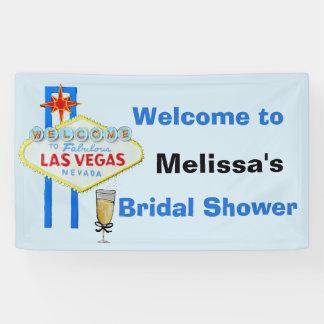 Signo positivo nupcial de la ducha de Las Vegas Lona