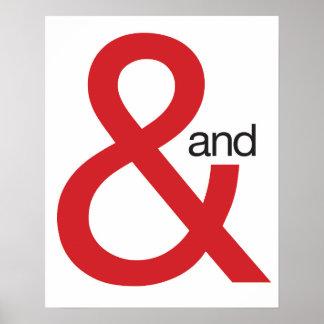 """Signo """"&"""" rojo póster"""