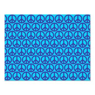 Signos de la paz azules invitacion personalizada