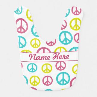 Signos de la paz baberos