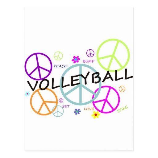 Signos de la paz coloreados voleibol postales