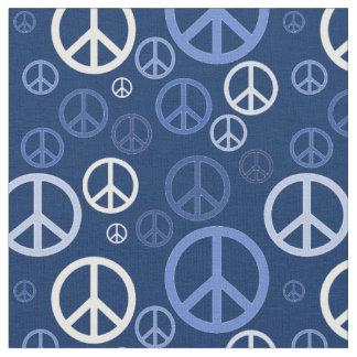 Signos de la paz dispersados SPST azul Tela