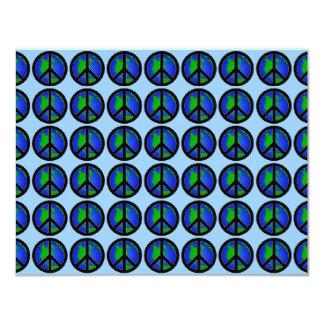 Signos de la paz múltiples del mundo invitación 10,8 x 13,9 cm