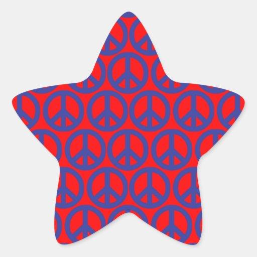 Signos de la paz pegatinas forma de estrella