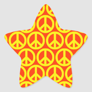 Signos de la paz calcomania forma de estrella personalizadas
