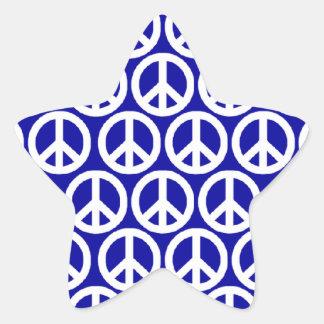 Signos de la paz calcomanías forma de estrella personalizadas