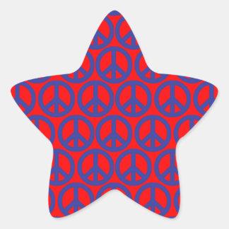 Signos de la paz pegatina en forma de estrella
